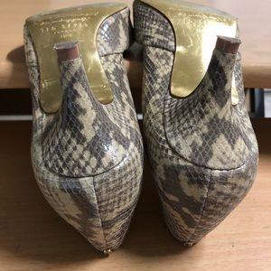Ted Baker Shoes - Ted Baker Heels Snake Embossed 6.5 Taupe